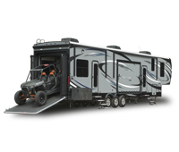 seismic fifth wheel toy hauler