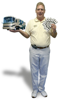 RV Consignment manager Jim Fendick